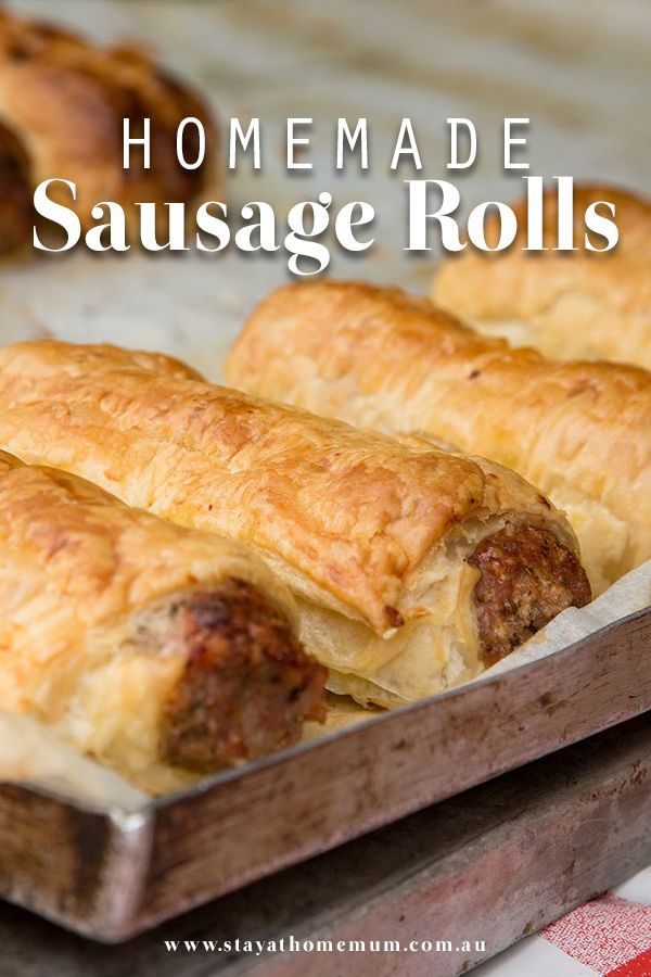"""""""Our sausage roll recipe is super easy and incredibly yummy! Best of all – m..."""