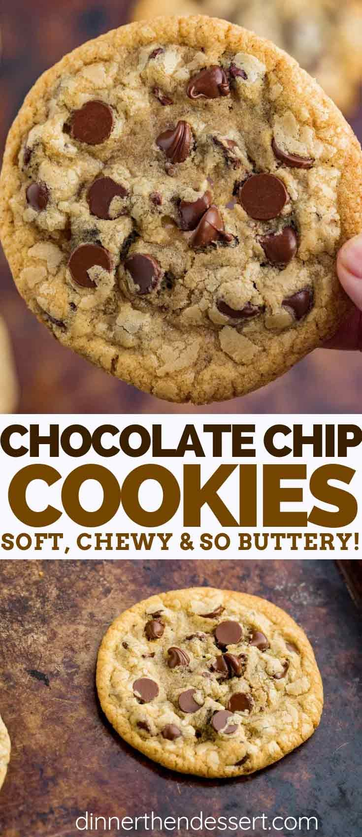 Chocolate Chip Cookies are a CLASSIC recipe that's soft, chewy, and made with on...