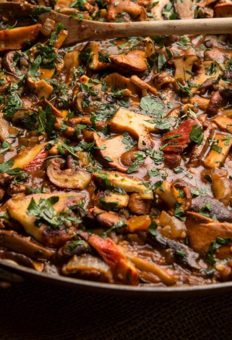 Craving wild mushrooms My compromise is to make a stew using mostly cultivated m...
