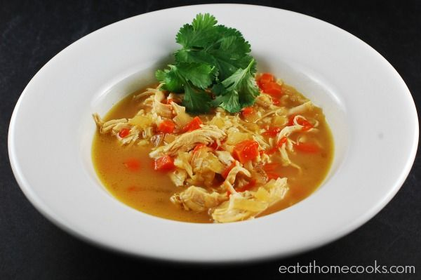 Easy Slow Cooker Thai Chicken Curry Soup