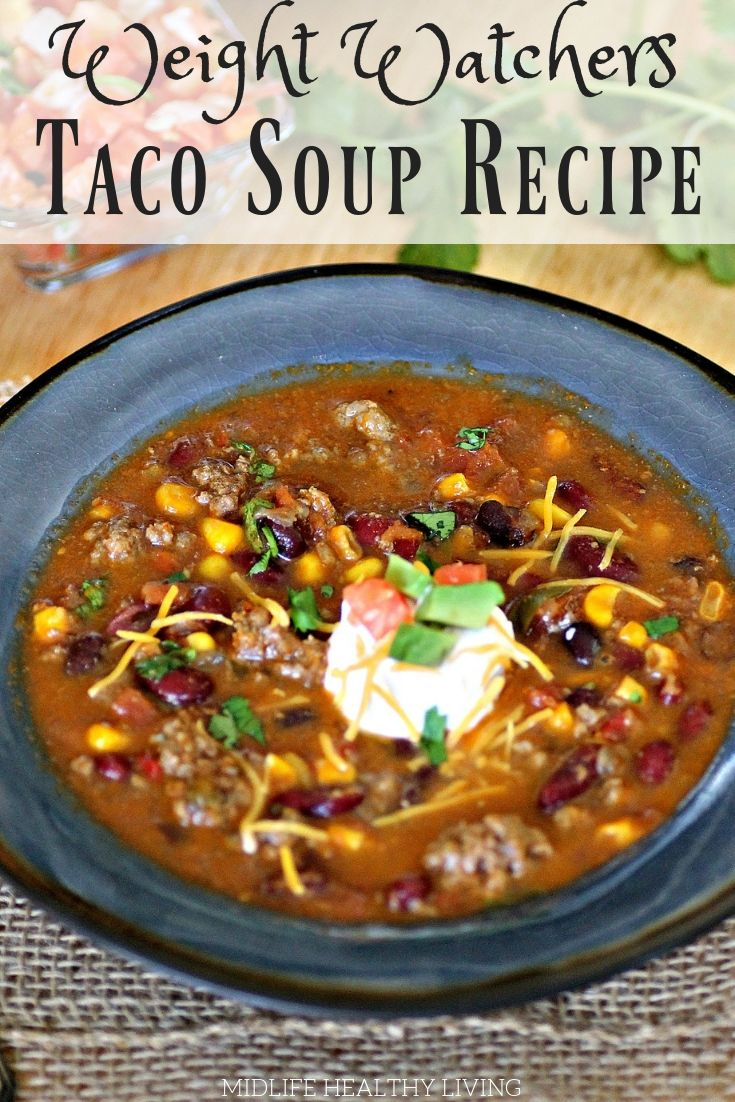 Healthy taco soup is a quick and easy weeknight dinner. This Instant Pot spicy t...