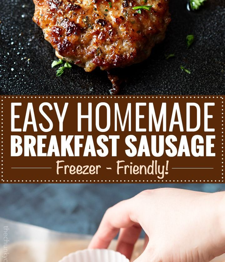 Homemade Maple Breakfast Sausage | These breakfast sausage patties are made with...