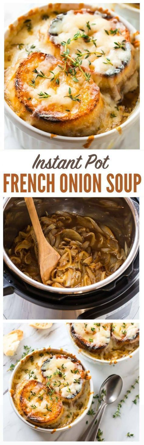 Instant Pot BEST French Onion Soup! Classic French onion soup recipe that tastes...