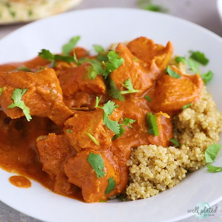 Instant Pot Butter Chicken. An easy, healthy recipe for the famous Indian butter...