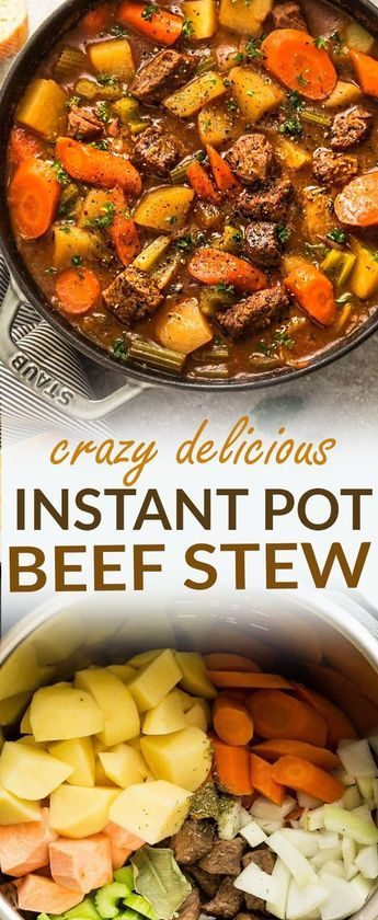 Instant Pot Pressure Cooker Homemade Classic Beef Stew makes the perfect comfort...