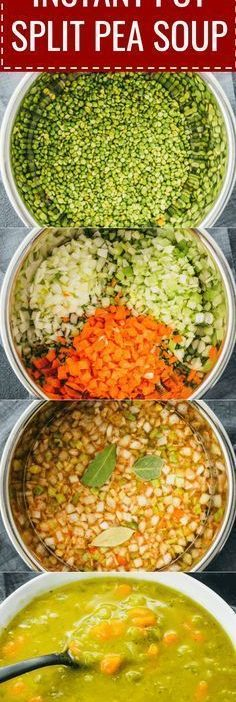 Instant Pot Split Pea Soup is one of my favorite pressure cooker recipes. It's e...