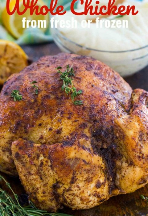 Instant Pot Whole Chicken is juicy, tender and incredibly easy to make. You can ...