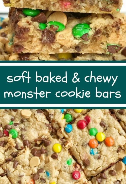 Monster Cookie Bars | After School Treat | Dessert | Monster Cookie Recipes | Mo...