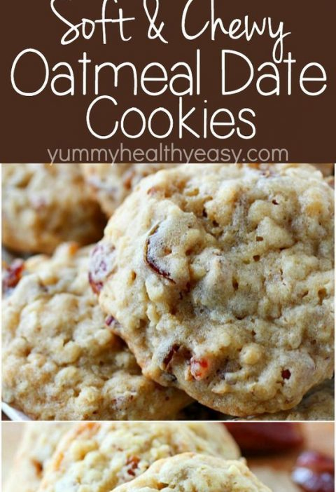 Oatmeal Date Cookies ~ chewy and soft in the center but crispy on the edges...th...