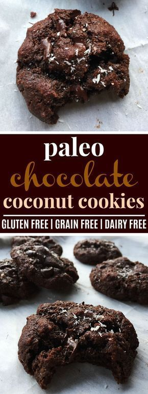Paleo Double Chocolate Chip Coconut Cookies