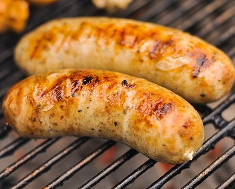 Roasted Garlic and Feta Chicken Sausage