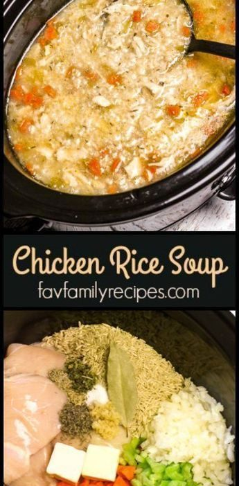 Slow Cooker Chicken and Rice Soup is an easy chicken soup recipe. All of the raw...