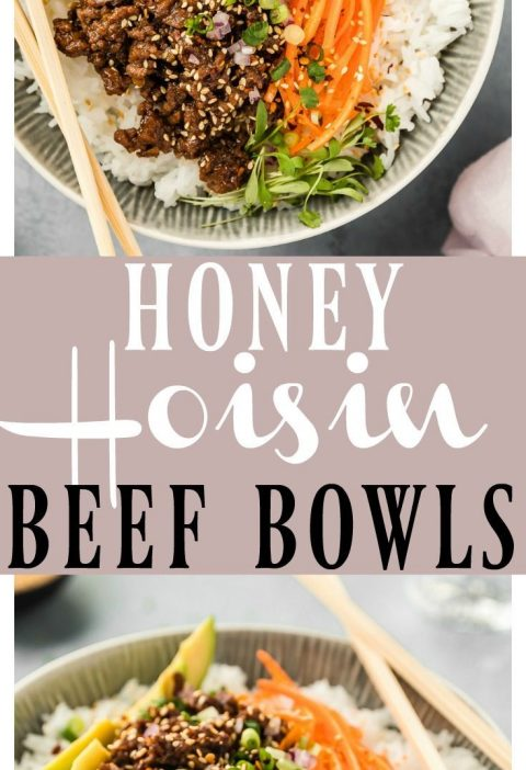 Stir-Fry Honey Hoisin Beef Bowls | These Bowls are packed with flavor & ready in...
