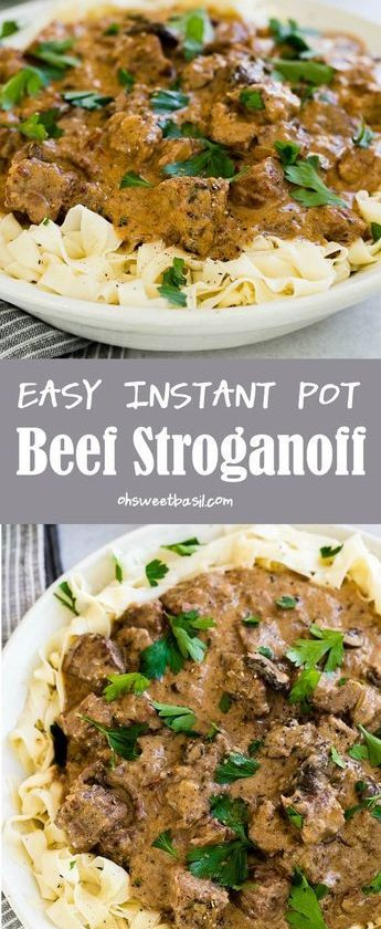 The BEST recipe for Easy Instant Pot Beef Stroganoff, everything you need to kno...