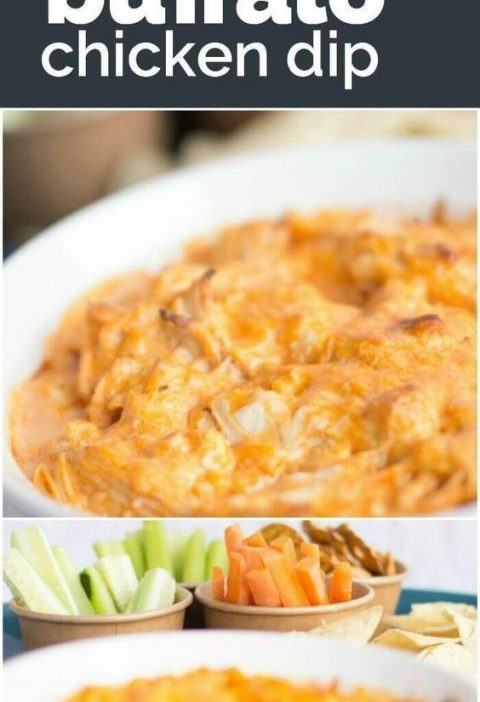This Buffalo Chicken Dip Recipe is easy to make and delicious -- the perfect app...