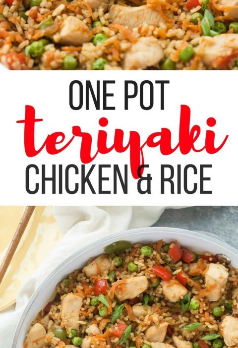 This One Pot Teriyaki Chicken, Rice and Vegetables is an easy, family friendly m...