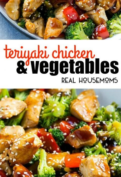 This Teriyaki Chicken and Vegetables is an easy and healthy meal that's perf...