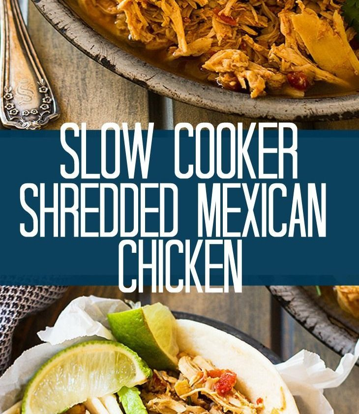 This easy Slow Cooker Shredded Mexican Chicken is a great base recipe to use for...