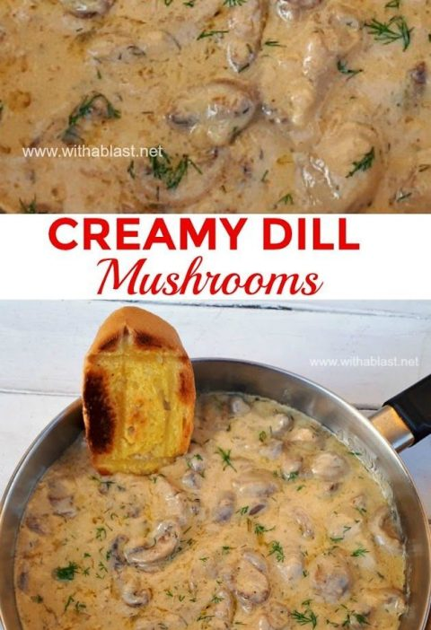 This is divine ! Imagine scooping up creamy Mushrooms with Garlic toast and dipp...