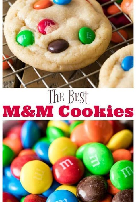 This is it! The BEST M&M Cookie Recipe! So good and so easy, no mixer required! ...