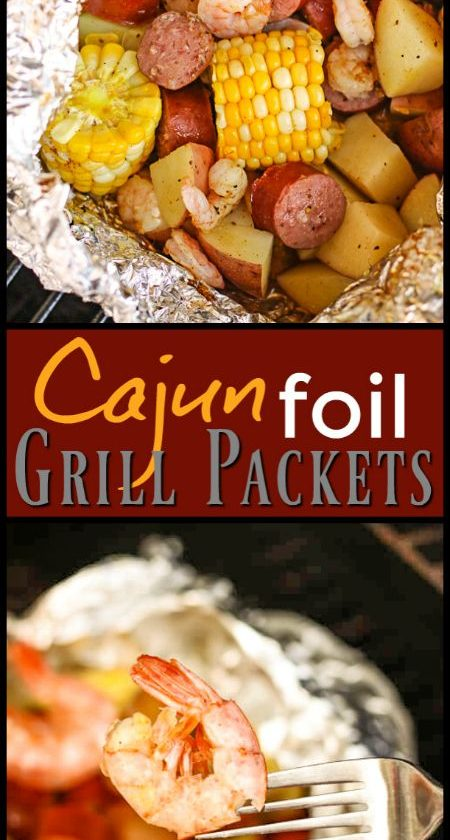 We love these Cajun Style Grill Foil Packets in the summertime. They don't h...