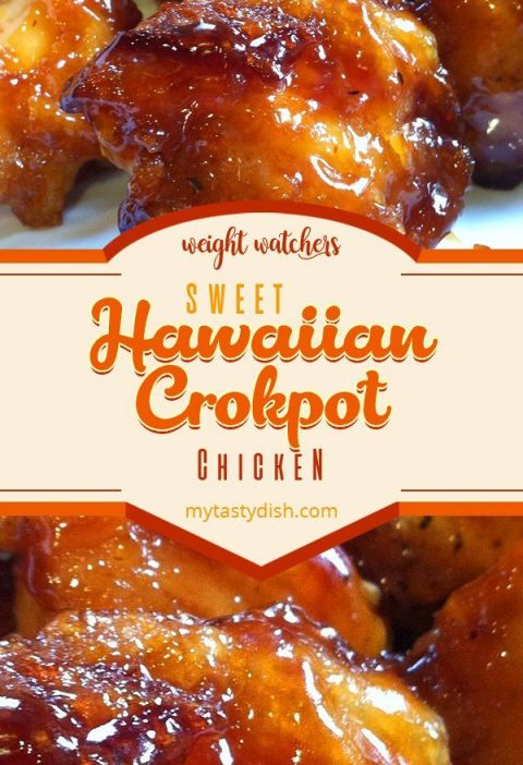 sweet hawaiian crockpot chicken recipe #weightwatchers #weight_watchers #WW #swe...