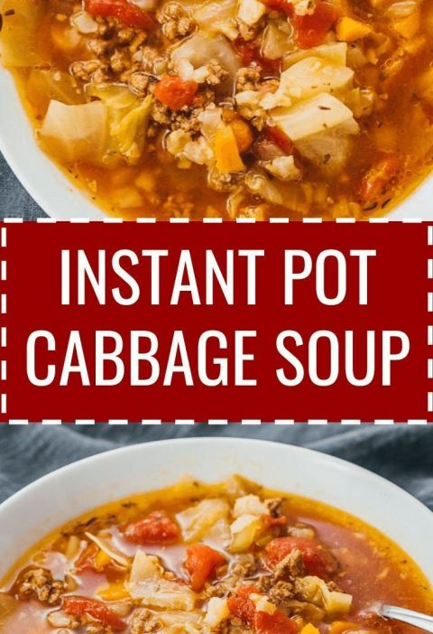 This hearty Instant Pot cabbage soup recipe with ground beef is great for anyone...
