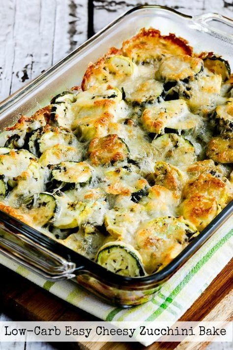 Low-Carb Easy Cheesy Zucchini Bake (Video)