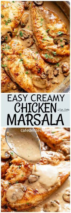Chicken Marsala in a thick and creamy mushroom sauce rivals any restaurant! One ...