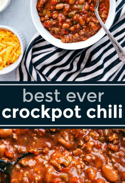 A delicious crockpot chili with dozens of 5-star reviews and winner of multiple ...