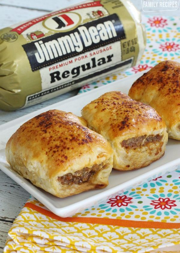 Australian sausage rolls made from Jimmy Dean sausage, wrapped in a pastry dough...