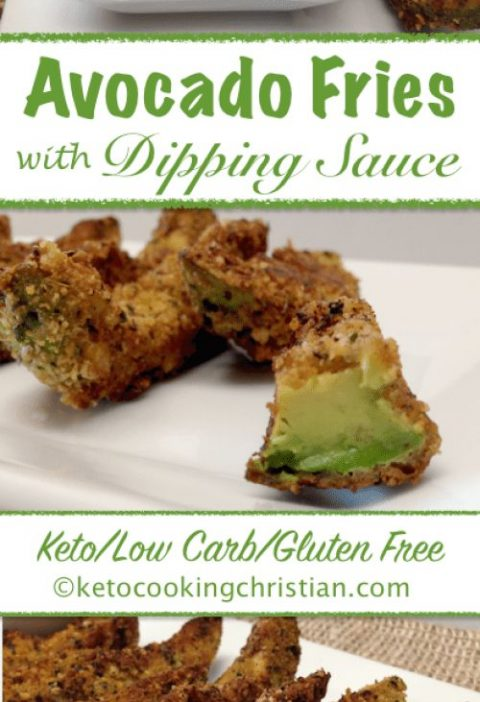 Avocado Fries with Dipping Sauce - Keto, Low Carb & Gluten Free