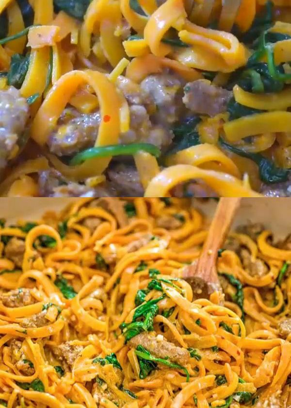 Butternut Squash Noodles with Sausage