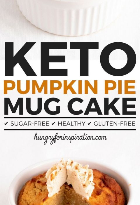 Can you believe this Pumpkin Pie Keto Mug Cake actually Low Carb? I couldn't eit...