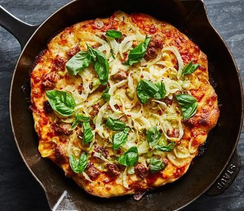 Cast-Iron Pizza with Fennel and Sausage