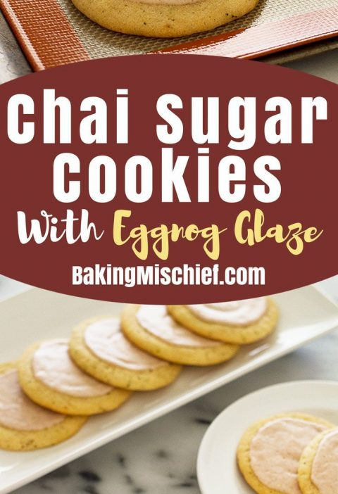 Chai sugar cookies with eggnog glaze might just be the perfect Christmas cookie....
