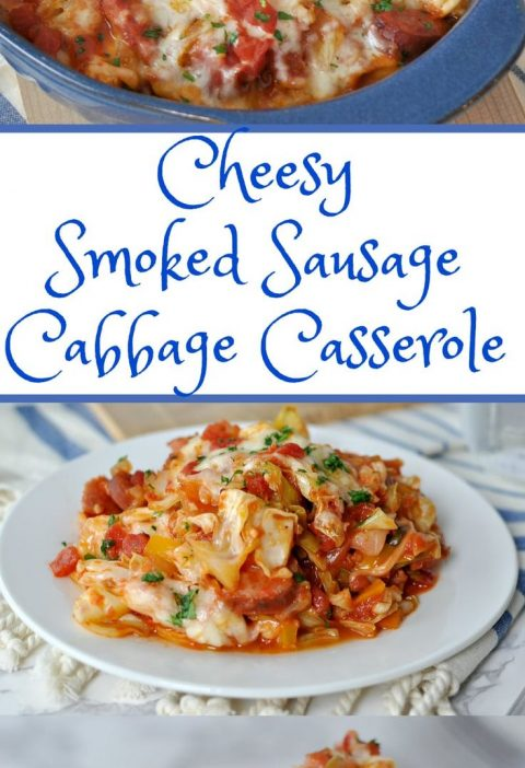 Cheesy Sausage and Cabbage Casserole