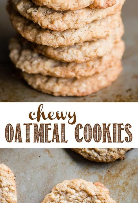 Chewy Oatmeal Cookies, just like Grandma used to make, are the best cookies that...