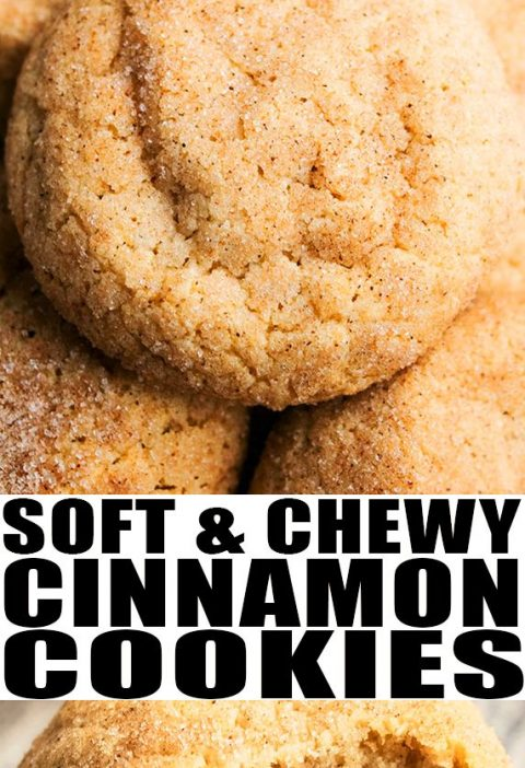 Cinnamon Cookies- Soft and Chewy