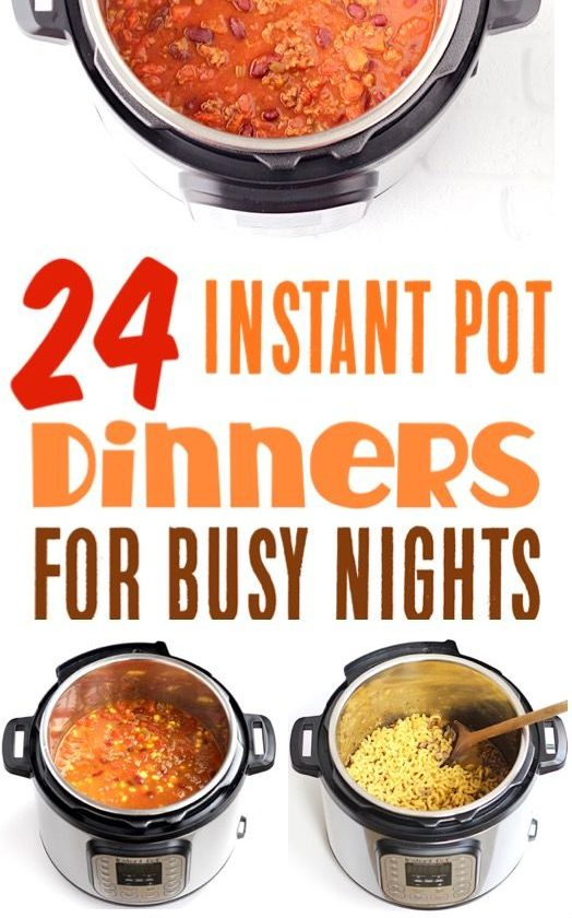 Easy Instant Pot Recipes for Busy Nights! You'll love these Chicken Dinners,...