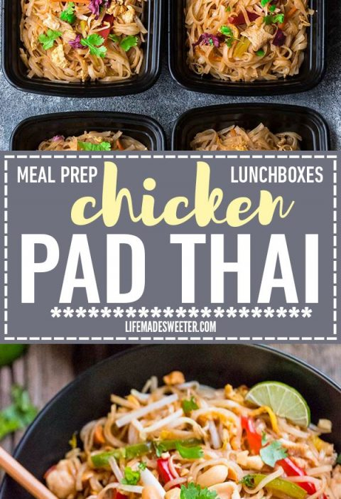 Easy and Authentic Chicken Pad Thai makes the perfect simple weeknight meal and ...