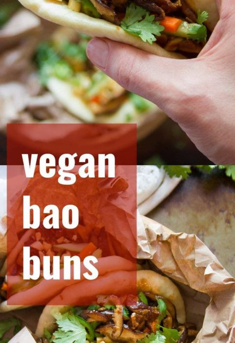Fluffy steamed buns are slathered in hoisin sauce and stuffed with tender shiita...