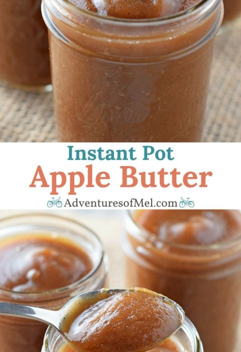 Instant Pot Apple Butter, filled with the delicious flavors of cinnamon spice go...