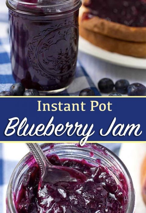 Instant Pot Blueberry Jam is easy to make and delicious! Make this pressure cook...