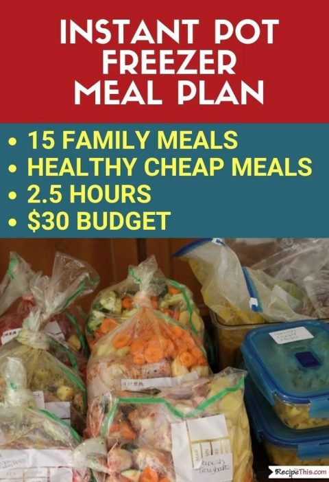 Instant Pot Freezer Meals Plan - If you have ever wanted to make freezer meals w...
