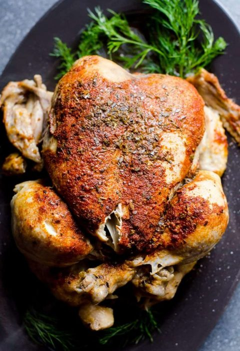 Instant Pot Frozen Chicken Recipe or how to cook juicy and flavourful whole froz...