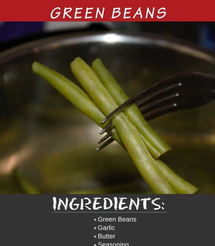 Instant Pot Green Beans cooked perfectly in the pressure cooker. An easy recipe ...