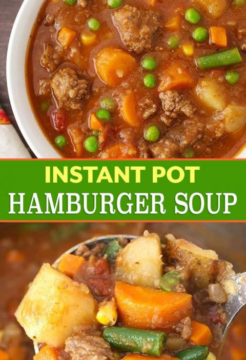 Instant Pot Hamburger Soup is a comforting classic ground beef stew made with si...