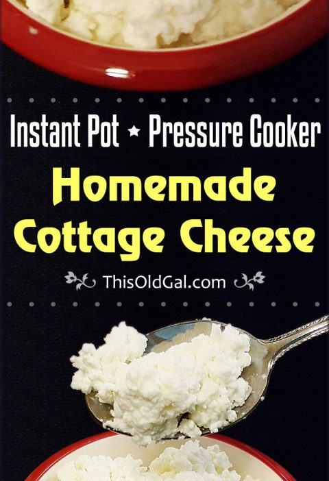 Instant Pot Homemade Cottage Cheese Recipe | This Old Gal