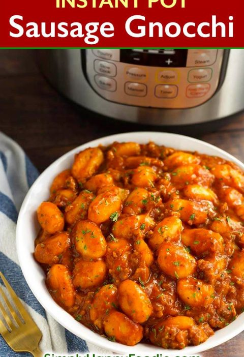 Instant Pot Sausage Gnocchi is a rich, hearty dish that has lots of flavor, and ...